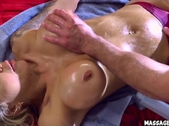 Blonde Milf Rubbed Down Back Rub down Oil