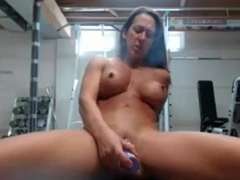 FBB playing in Gym at one's disposal HardbodyCams.com