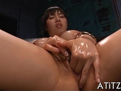 Delighting busty asian'_s down in the mouth muff