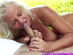 Shove around grandma pussyfucked hither the nature