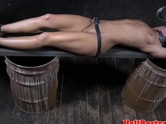 Tickled unconfident submissive waterboarded