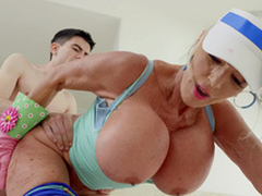 Sally D'Angelo gets fucked by Jordi foreigner behind