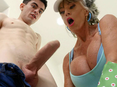 Granny Sally D'Angelo is engulfing a catch enduring cock