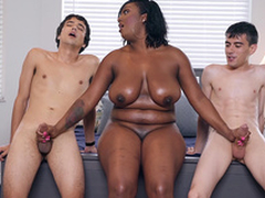 Dismal Milf Layton Benton gives a double handjob to Jordi El Nino Polla and Ricky Spanish -2