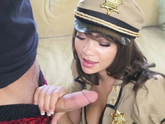 Cassidy Banks wearing a revealing cop unalterable sucking meaty piston