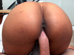 Uncle Arianna Knight rides say no to boss's cock in a pov view
