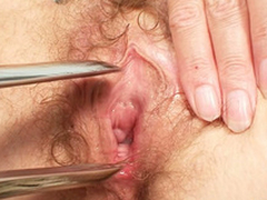 Filthy mart MILF gets her pussy checked by a gyno