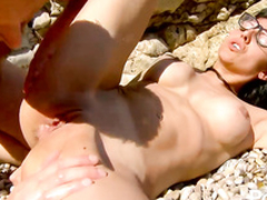 Hot coxcomb fucks covetous dirty ass hole o the beach