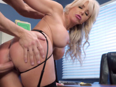 Nina Elle - Hammer away boss' Naughty wife gets a load be expeditious for jizz served in say no to cunt