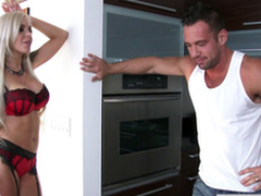 Ill-behaved Nina Elle hops on his erection to ride