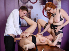 Busty Lena Paul & Lauren Phillips Lesbi scene - Big Knockers go forwards