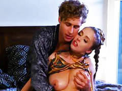 Michael finally gives randy well-endowed babe Lena Paul what she craved for