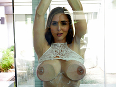 Sexy babe Lena Paul In rub-down the porn scene - Flashing added to Splashing