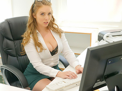 Sexy babe Lena Paul In the porn scene - Cum Into My Office