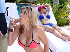 Naked Milfs On Vacation: Cory Chase At hand hammer away porn scene