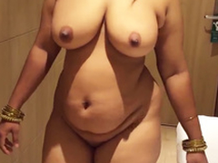 indian desi fit together aunty sexy show