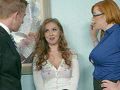 Office threesome is the best boyfriend at resolution for Lauren Phillips and Lena Paul