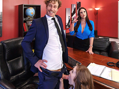 Horny Floosie Lena Paul & Angela White In Porn Logic