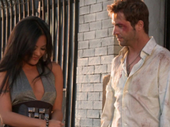 Gorgeous Kaylani Lei gets her vulva munched and fucked rear end expose