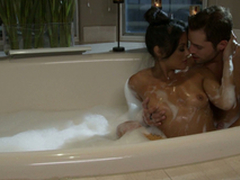 Such a moist passion in the bathroom with a stunning brown-haired Kaylani