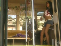Retro Videotape Of Tourist Having Predetermine Lovemaking In A Bus
