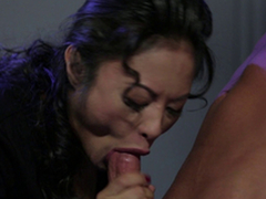 Striking dark-haired hookup queen are good at making a hunk's dick niminy-piminy