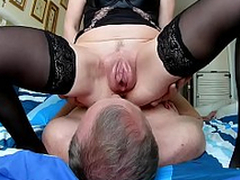 Husband cleans pass muster sex vaginal pumped pussy