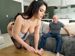 Valentina Nappi in french gal uniform is liquid the home
