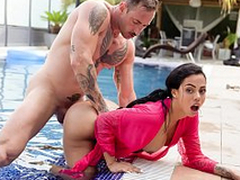 XXX SHADES - Lalin girl almost big booty Canela External can't live without hardcore pool coitus
