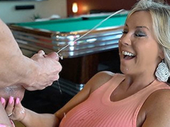 Hawt Wife Sucks Off A Guest Cock Gets Cum Splashed