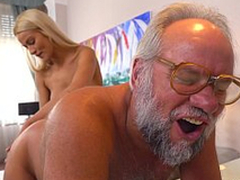 Chary Kiss and will not hear of a much older follower groupie - Grandpas Fuck Teens