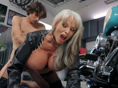 Sally D'Angelo gets pounded by young Ricky Spanish next encircling say no to Harley