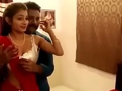 Sexy woman in red saree newly spoken for