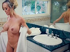 Brazzers - Mommy Got Boobs -  Hands-On Learning scene starring Brandi Exalt and Jordi El Niño