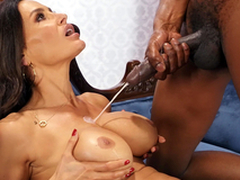 Lisa Ann enjoys a huge cumshots on will not hear of big boobs from Isiah Maxwell