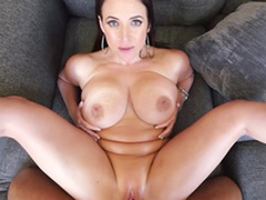 Lewd Angela White is humped missionary in first-person XXX porn