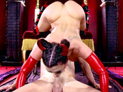 Tempting succubus Rachel Starr takes sinner's XXX trident in get under one's frowardness