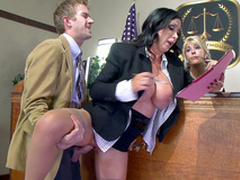 Slutty proponent Nikki Benz gets it unaffected by regarding prosecutor in XXX obstruction