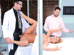 Cheating MILF does passionate XXX porn nigh big-cocked gynecologist