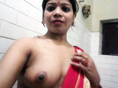 Desi XXX - Big Aggravation Punjabi Bhabhi Taking Shower Shaving Her Bawdy cleft