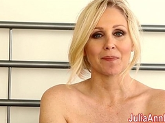 Milf Julia Ann Teases U With Lingerie &amp_ Helps U Cum!
