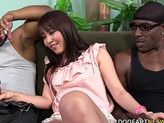 Marica Hase squirts while DP'_d by Black Cocks