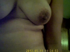 Me-my cute neighbour Mrs.Chawla having me insid her ass hole on bed-051113 part 1